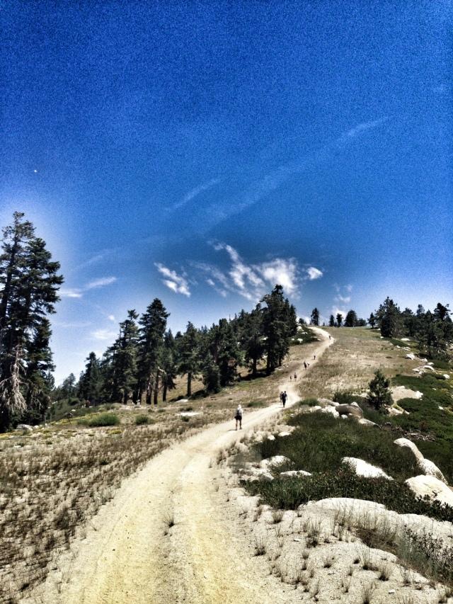 the never ending climb up Diamond Peak, miles 30-32