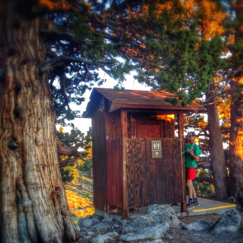 Martis fire lookout bathroom