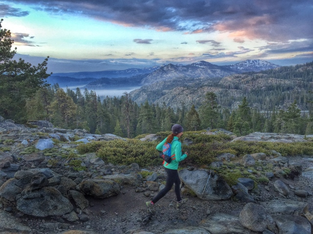 sunrise on the Donner Lake Rim Trail