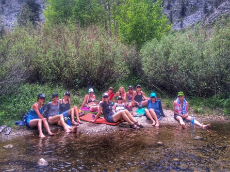 Cooling off by the creek in Onion Valley. (Photo by Cabana Boy)