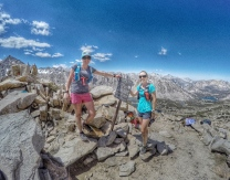 Jenelle and Audrey at the pass- 11,700' elevation