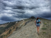 the climb to Tinker Knob