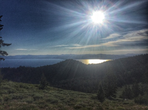 afternoon sun over Tahoe