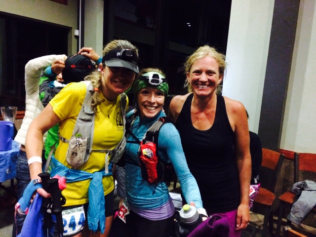 Me, Audrey and Angela at Mile 80. Photo by Brittany