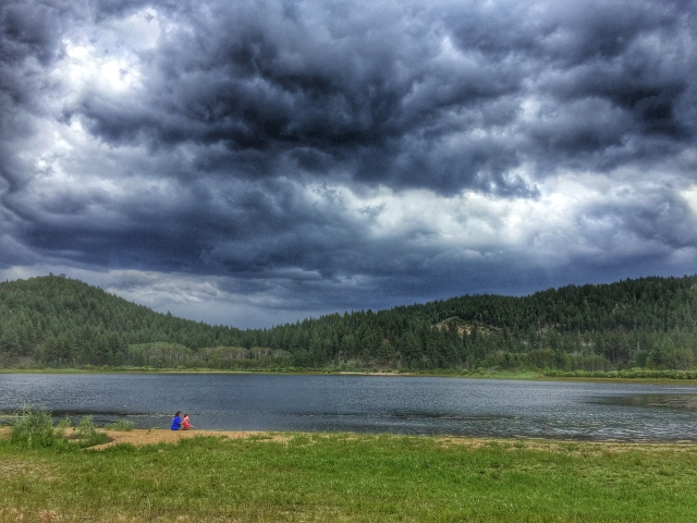Spooner Lake - finish line area