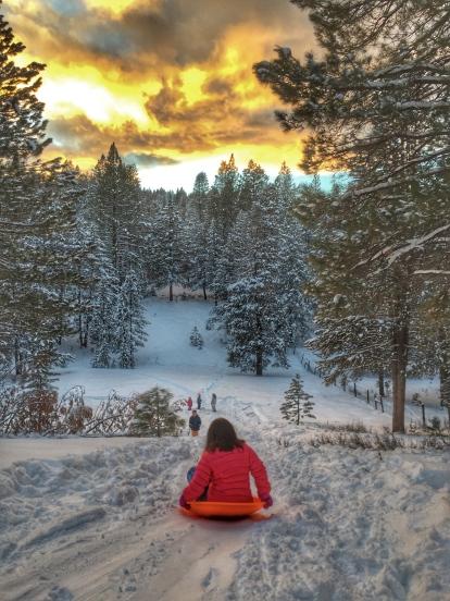 Christmas day sledding '15