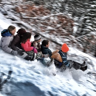 Christmas day sledding '15
