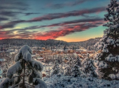 Christmas Day '16 - downtown Truckee from Cottonwood