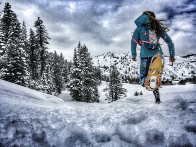 Squaw Valley '16 - snowshoe running