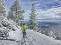 Coldstream Canyon '16 - Naomi snowshoe running