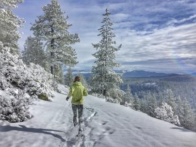 Coldstream Canyon '16 - Naomi snowshoe running