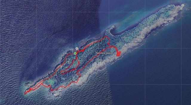 raspberry island map