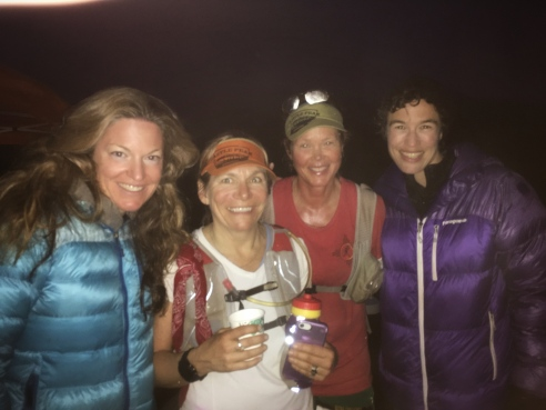 Jenelle, Lesley, Betsy, and Helen at the finish of the Marin Ultra Challenge 2018