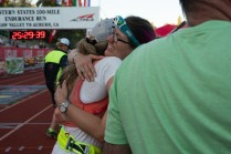 Michelle helped me tremendously at TRT100 last year and I was so grateful to have her run me in from Robie! Photo: Helen Pelster